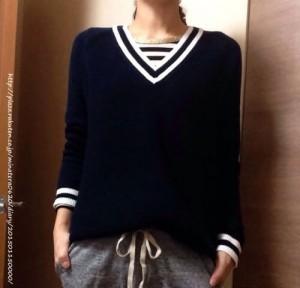 ユニクロのクリケットセーターがかわいい!おすすめ春コーデは?その1